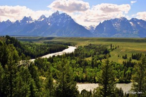 Teton range from Snake River overlook