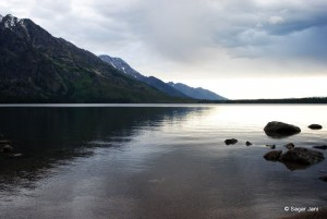 Jenny Lake at dawn
